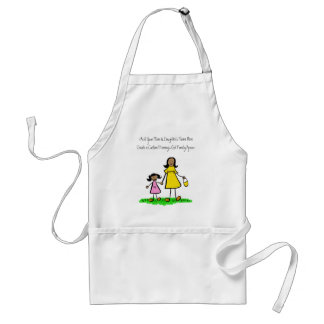 Mother and Daughter Custom Family Characters Apron