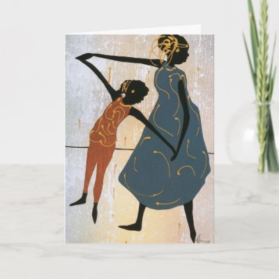 Mother and Daughter dancing birthday Card by Heritageco