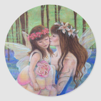 Mother and Daughter Fairy Stickers