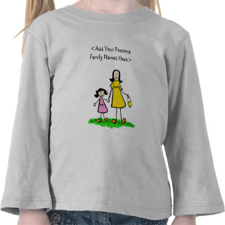 Mother and Daughter Family Names Custom Top Shirts