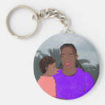 Mother and Daughter Keychain
