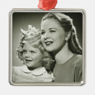 Mother and Daughter Metal Ornament