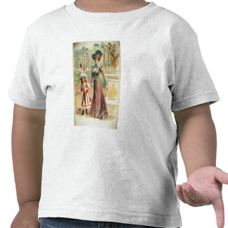Mother and daughter on a walk (colour litho) shirt