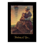 Mother and Daughter on Shore Greeting Card