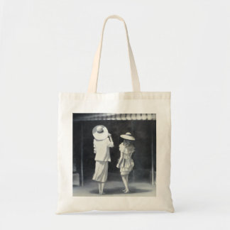 Mother and Daughter Outside a Restaurant Tote Bag