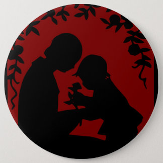 MOTHER AND DAUGHTER PINBACK BUTTON