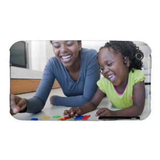 Mother and daughter playing with letters Case-Mate iPhone 3 cases