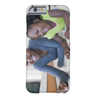 Mother and daughter playing with letters iPhone 6 case