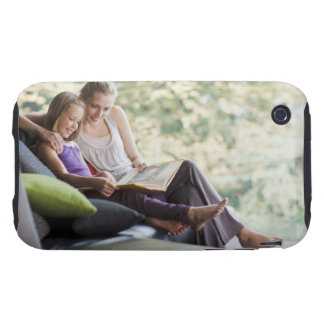 Mother and daughter reading storybook tough iPhone 3 cases