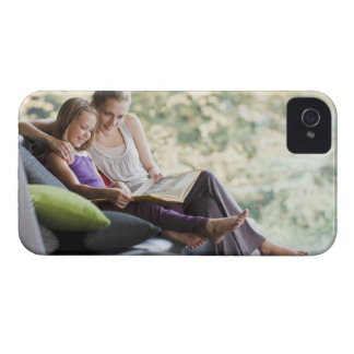 Mother and daughter reading storybook iPhone 4 Case-Mate case