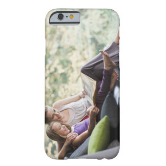 Mother and daughter reading storybook iPhone 6 case