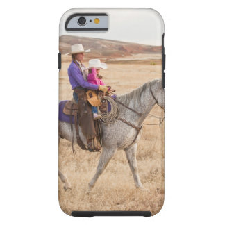 Mother and daughter riding horse iPhone 6 case