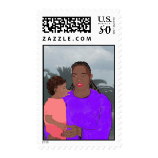 Mother and Daughter Stamp