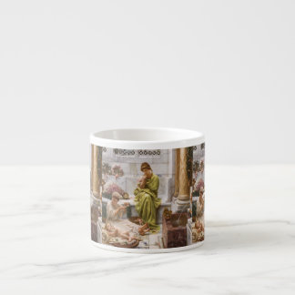 Mother and Daughters with Flowers Espresso Cup