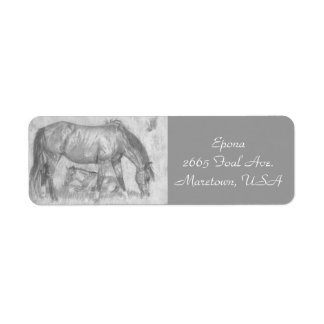 Mother and Foal Label