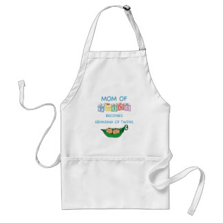 Mother and Grandmother of Twins Adult Apron