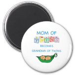 Mother and Grandmother of Twins Fridge Magnets