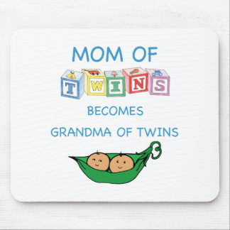 Mother and Grandmother of Twins Mouse Pad