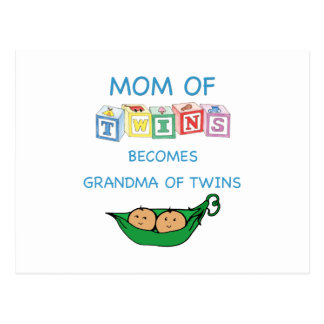 Mother and Grandmother of Twins Postcard