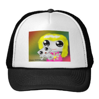 Mother and trucker hat