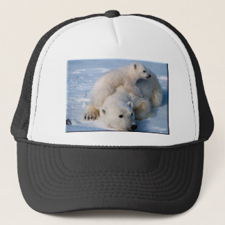 Mother and Polar Bears Trucker Hat