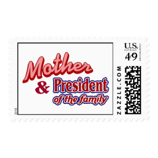 Mother and President of the family Stamp