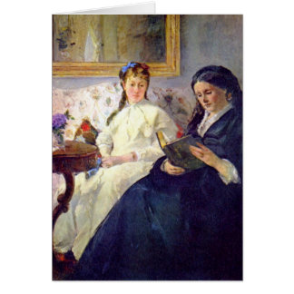 Mother and sister of the artist by Berthe Morisot Cards