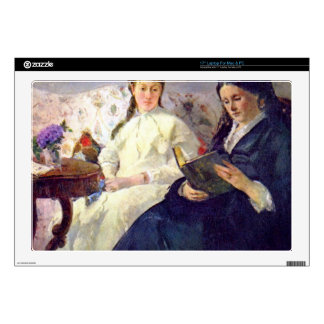 Mother and sister of the artist by Berthe Morisot Skins For Laptops