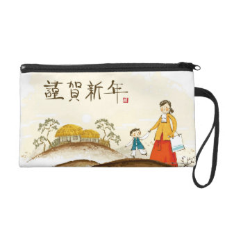 Mother and Son Wristlet Clutches