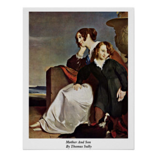 Mother And Son By Thomas Sully Print