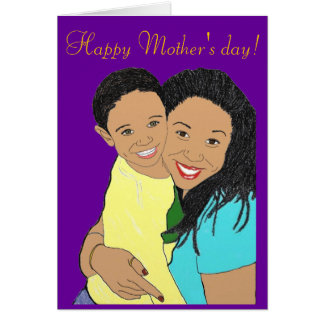 Mother and son card
