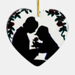 Mother and son christmas tree ornaments