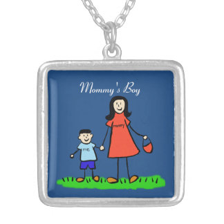 Mother and Son Family Mommy's Boy Custom Necklace