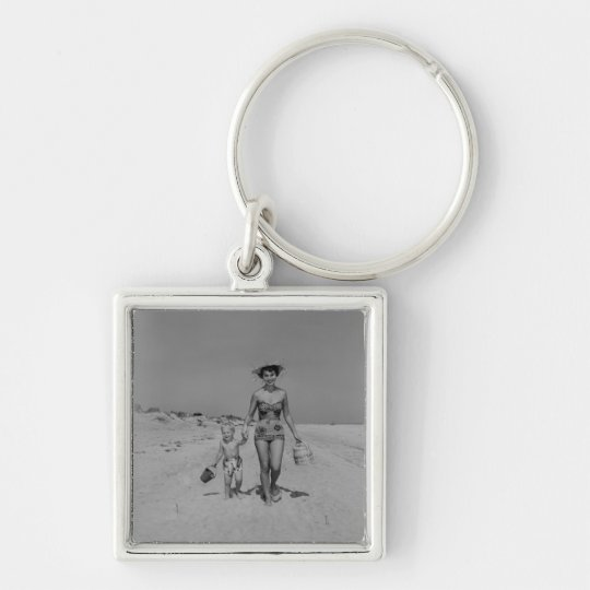 Mother and Son Keychain