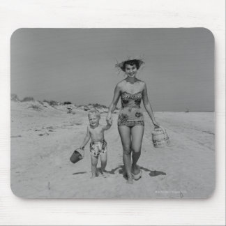 Mother and Son Mouse Pad