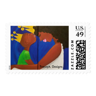 Mother and Son Postage Stamps