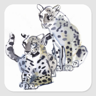 Mother and Son Square Sticker