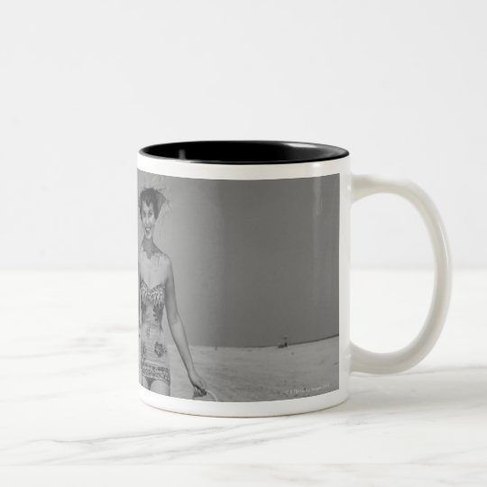 Mother and Son Two-Tone Coffee Mug