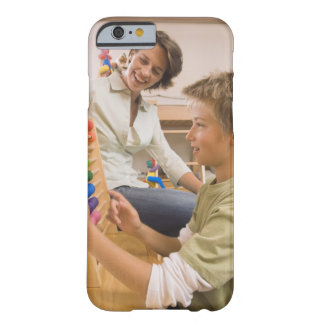 Mother and son using abacus barely there iPhone 6 case