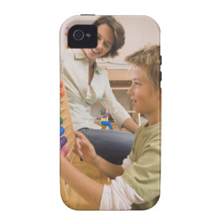 Mother and son using abacus vibe iPhone 4 cases