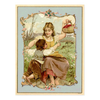 Mother and Son Vintage Reproduction Postcard