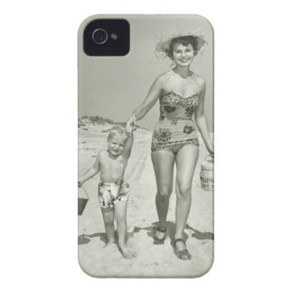 Mother and Son Walking iPhone 4 Cover
