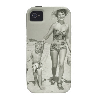 Mother and Son Walking Case-Mate iPhone 4 Cases