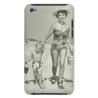 Mother and Son Walking iPod Case-Mate Case
