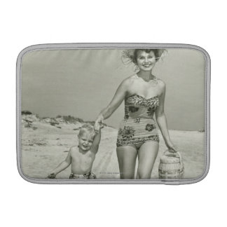 Mother and Son Walking MacBook Air Sleeve