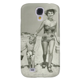 Mother and Son Walking Samsung Galaxy S4 Cover