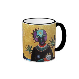 Mother and Sun by Gregory Gallo Coffee Mugs