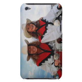 Mother and teenage daughter (14-16) at rodeo, iPod touch cover