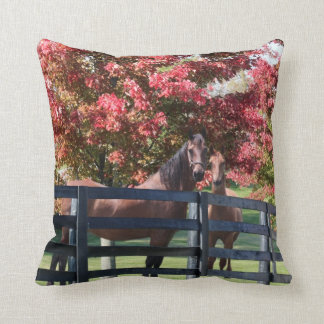 Mother and young horse pillow