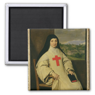 Mother Angelique Arnauld  Abbess 2 Inch Square Magnet